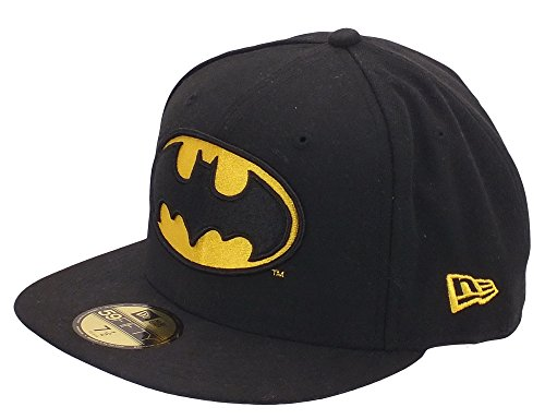 New Era x DC Comics - Casquette Fitted Homme Batman 59Fifty Character Basic Badge - Black - Taille 7 1/8