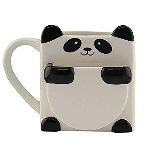 CUHAWUDBA 3D Karikatur Panda Kaffee Tassen Doppel Kekse Keramik Tee Tassen Kreative Mark Trink Weihnachts Geschenke