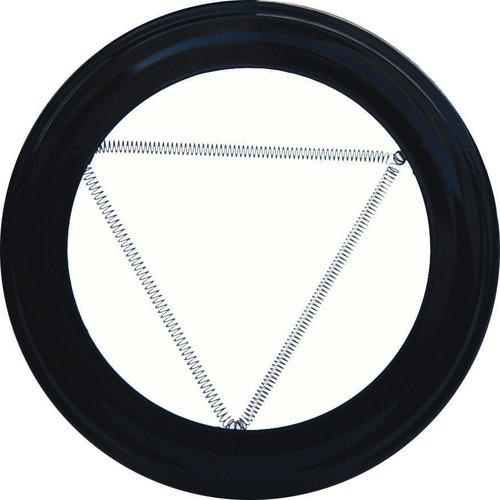 Wolfpack 22010905 – Plafonnier Plaque pour poêle (110 mm) couleur Noir