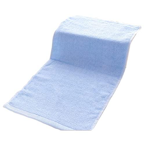 S-TROUBLE Gant de Toilette Absorbant Ultra Doux pour Le Visage en Fibre de Bambou pour Salle de Bain Bleu Clair