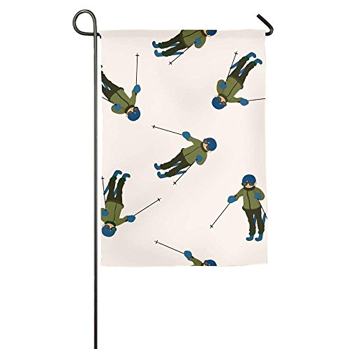 VinMea Skiën Snowboard Zomer Verjaardag Decor Seizoen Patio Tuinvlaggen Polyester Fiber Stand 12x18 Emblemize