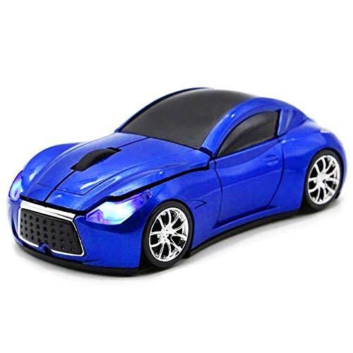 Car Shape Wireless Mouse, FIRSTMEMORY 2.4G Sport Race Car Mouse Optical Mouse 1600 DPI for Computer PC Laptop Desktop Mac (Blue)