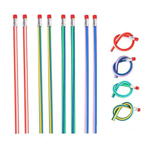 Herefun 48 Piezas Lápices Flexible con Gomas De Borrar, Lapiz Mágicos para Niños, Juguete para Fiestas de Regalos Cumpleaños Infantiles - Color Aleatorio
