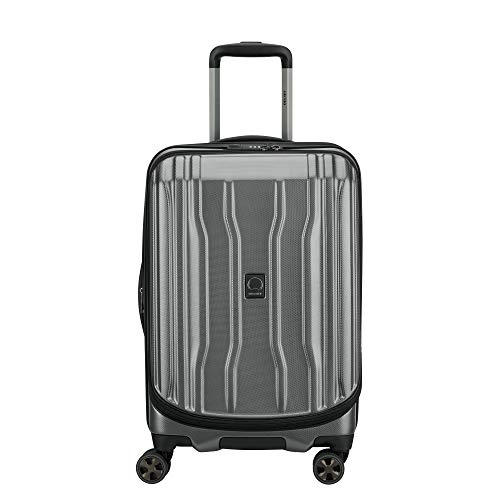DELSEY Paris Cruise Lite Hardside 2.0 Expandable Luggage, Spinner Wheels, Platinum, Carry-on 21 Inch