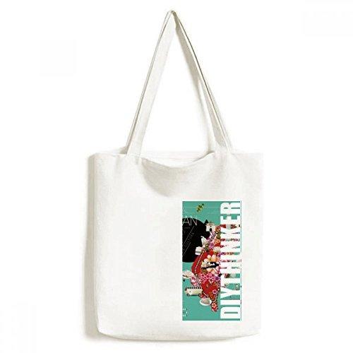 DIYthinker Traditonal Taiwan Impression-Tasche Einkaufstasche Kunst Waschbar 33cm x 40 cm (13 Zoll x 16 Zoll) Mehrfarbig