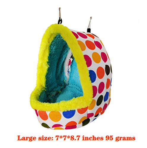 Lonfenner Bird Nest Hammock Hanging Bed Toy for Parrot Parakeet Cockatiel Breeding Nest Handmade Winter Warm Bird Breeding Small Parrot Cage Hatching Nest -Size:778.7(in)