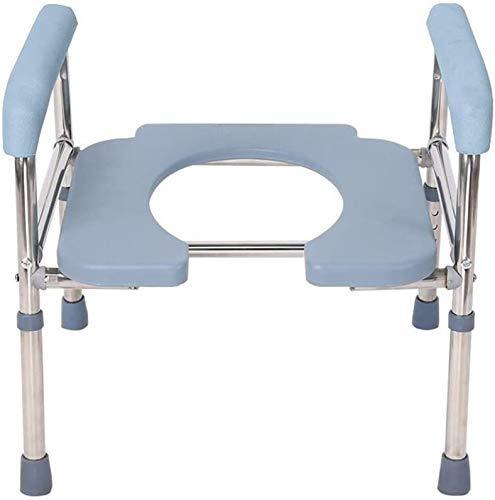 Z-SEAT Toilettenstuhl Schwerer Nachttisch, extra breit, höhenverstellbar, Sitz für übergewichtige Erwachsene, schweres Gewicht 400 Pfund, sicher, rutschfest
