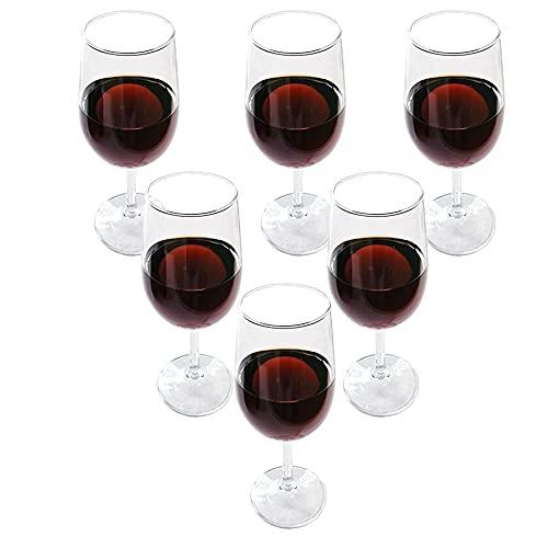 LazyWomen Copas de vino tinto, juego de 6, 12 onzas, sin plomo, perfectas para el hogar, restaurantes y fiestas