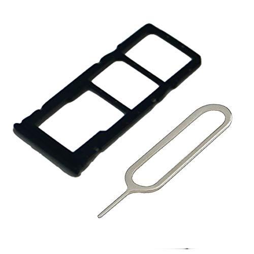 MMOBIEL Bandeja de Tarjeta Dual Sim y Micro SD Ranura Compatible con Xiaomi Redmi Note 8 2019 6.3 Inch (Negro) Incl Sim Pin