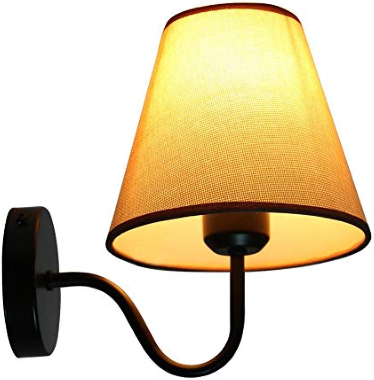 Wapipey Nordic Stoff Metall Wandleuchte Moderne Minimalistische Kreative Wandlaterne Wandleuchte Wohnzimmer Beleuchtung Schlafzimmer Nachttischlampe Gang Wandleuchte E27