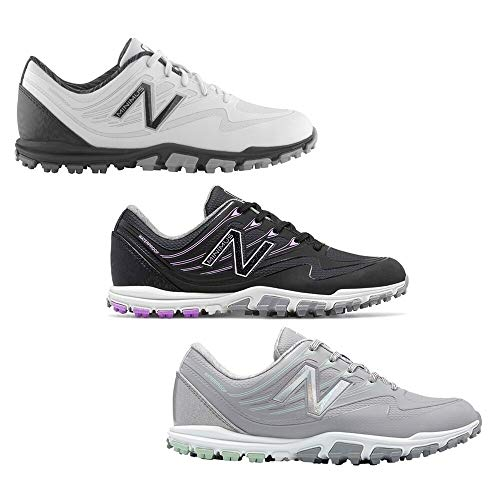 New Balance Women's Minimus Wp Spikeless Golf Shoes Black/Purple B 6.5
