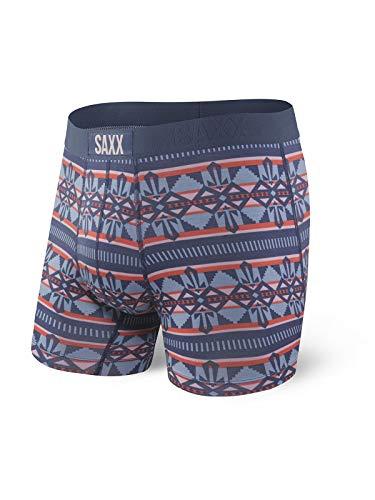 Saxx Vibe Boxer Herren Männer Underwear,Sportunterwäsche,Funktionsunterwäsche,Ball Park Pouch,Boxer 5inch,Ink GEO,S