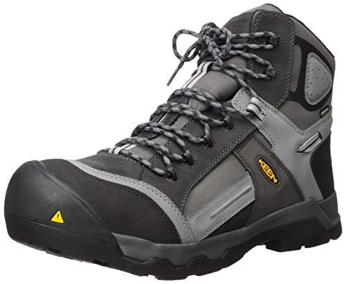 """KEEN Utility Men's Davenport 6"""" Composite Toe Insulated Waterproof Work Shoe, Magnet/Steel Grey, 10.5 Medium US"""