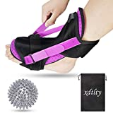 Plantar Fascitis Night Splint, Xdtlty Adjustable Ankle Brace Foot Drop Orthotic Brace for Plantar Fasciitis, Arch Foot Pain, Achilles Tendonitis Support for Men and Women - 2021 New Upgraded