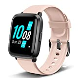 Lintelek Smart Watch, Fitness Tracker with Heart Rate Monitor, Activity Tracker with Step Counter, Sleep Monitor, Calorie Counter, Stop Watch, Pedometer Watch for Android & iOS for Women Men