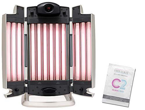 Eurosolar Facial Tanner Gesichtssolarium Smartsun Edition UV Beauty Collagen mit time4wellness Hybrid Cosmetic Konzentrat 12 ml