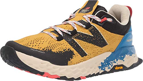 New Balance Men's Fresh Foam Hierro V5 Trail Running Shoe, Varsity Gold/Neo Classic Blue, 11 M US