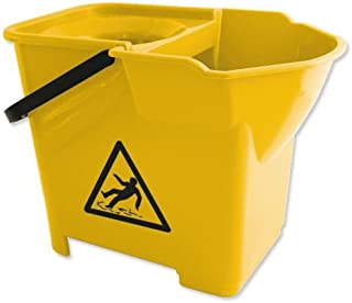 Yellow 15 L Janitorial Express CL056-Y Oval Mop Buckets