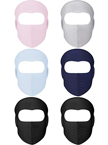 6 Packs Winter Windproof Face Mouth Mask Warm Breathable Fleece Half Face Mask Mouth Cover with Ear Warmer for Men Women