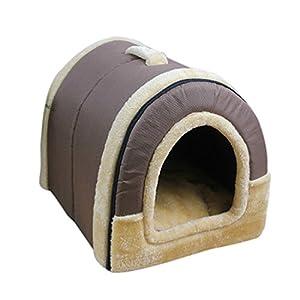 Beautylife77Niche chaude en peluche pour animal de compagnie - Petite niche de couchage d'intérieur pour chien, chat, animal de compagnie