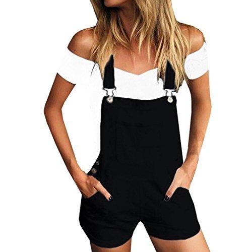 Ouneed-® Shorts Damen Sommer, Damen Frauen lose Denim Bib Loch Hosen...