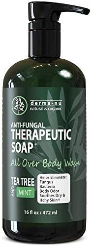 Antifungal Antibacterial Soap Body Wash Natural Fungal Treatment with Tea Tree Oil for Jock product image