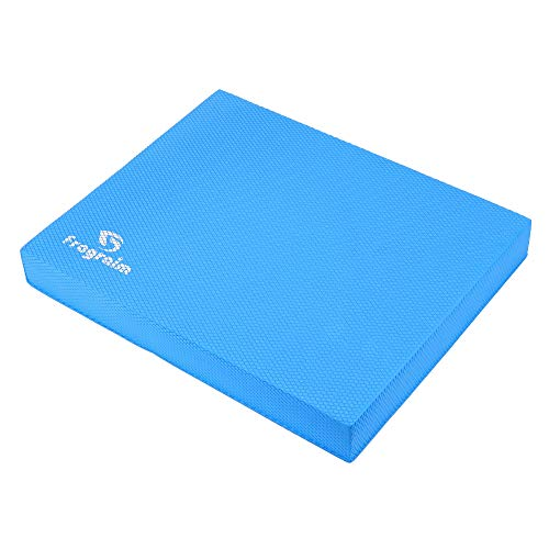 Balance Pad, Non-Slip Foam Mat & AnklesKnee Pad Cushion for Physical Therapy, Rehabilitation, Core Balance and Strength Stability Training, Yoga & Fitness, 15.7 x 13 x 2 Inch (Blue)