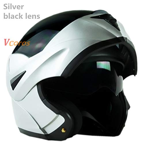 MYSdd Flip Motorradhelm Herren Modularer Helm Damen Doppel Objektiv Interner Sonnenschutz Objektiv Helm Abnehmbares Futter - 13 XL