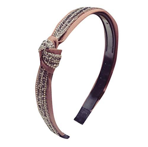 MAWOLY Damen Haarband SüßIgkeiten Farbe Diamant Beschlagen Cocktail Süß Headband Stirnbänder Oben Cross Knoten Mode Niedlich Einfach Stirnband Wunderschön