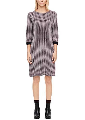 s.Oliver Damen 14.910.82.5475 Kleid, Beige (Creme Check 02n1), (Herstellergröße: 38)