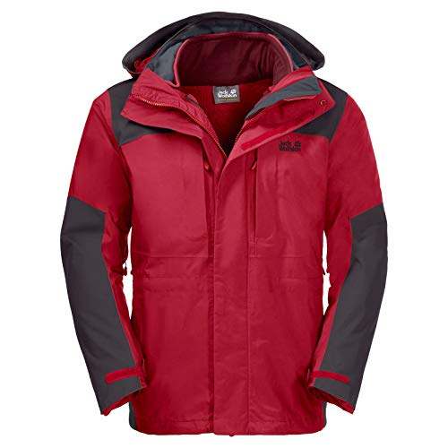 Jack Wolfskin Thorvald Veste Homme, Red Lacquer, FR : 2XL (Taille Fabricant : 6)