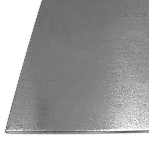 B & T Tôle dacier métal galvanisé 3mm dépaisseur Tôle Fine dx51galvanisé Tôle St 1203Fer Galvanisé en Découpe