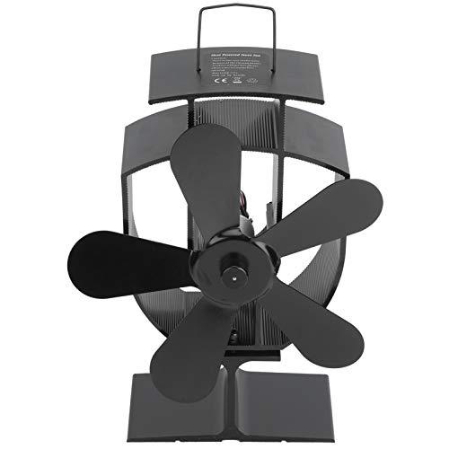 Voluxe Ventilador de quemadores de leña, Ventilador de Estufa, Ventilador de distribución de Calor, Funcionamiento silencioso de 8,9 x 6,7 x 3,4 Pulgadas para Motor de Ventilador de Invierno