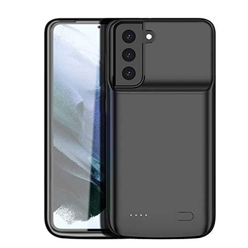 HiKiNS Funda Batería para Samsung Galaxy S21 4800mAh Externa Ultra Batería Recargable Power Bank Case Funda Cargador Portatil Batería para Galaxy S21
