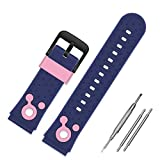 Kids Smartwatch Replacement Bands,Compatible with Kidizoom DX2 PROGRACE VTech SZBXD Sonic The Hedgehog Jaybest MeritSoar Silicone Watch Strap 20mm for Boys and Girls Gifts (Blue-Pink)