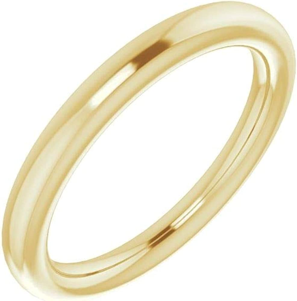 18kt Courier shipping free Yellow Gold Band for Price reduction 6.5mm Ring 7 Round Size in