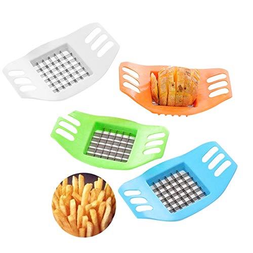 ZMLKDS Gemüse Kartoffelschneider Chopper Chips Herstellung von Werkzeug Kartoffelschneidewerkzeug Pommesschneider Platzsparender Pommes Schneider Spülmaschinenfest Potato Cutter Frittenschneider