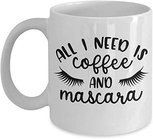 11 oz Koffie Mok, Thee Beker, Koffie & Mascara Grappige Make-up Kunstenaar Koffiemok Cadeau Idee Reizen Cup voor Moeder Vrouw Verjaardag Kerstcadeau voor Vrouwen haar, Beste Verkoper 2019