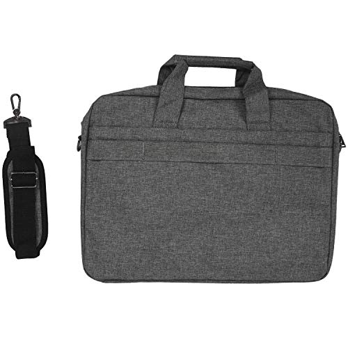 Cobeky Large Capacity Laptop Handbag for Men Women Travel Briefcase Bussiness Notebook Bags 15 Inch for Pro Pc Dark Gray 15 Inch