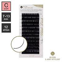 まつげエクステ《世界初!レーザー加工》BLINK ミンクラッシュ (Cカール) (12列) (0.10 / 12mm)