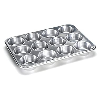 Nordic Ware Natural Aluminum Commercial Muffin Pan, 12 Cup