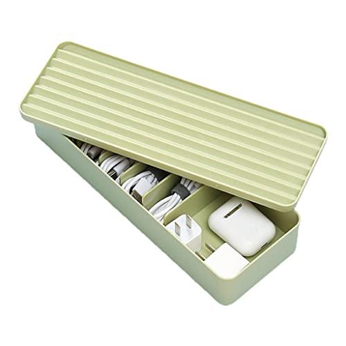 ShapeW Caja de almacenamiento de cable de datos Organizador de cable de carga Plástico Papelería Contenedor Cargador de cable Caja de auriculares