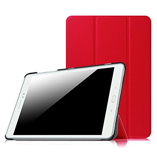 Fintie Hülle für Samsung Galaxy Tab A 9.7 ZollT550N / T555N Tablet-PC - Ultra Schlank Superleicht Ständer SlimShell Cover Schutzhülle Etui mit Auto Schlaf/Wach Funktion, Rot