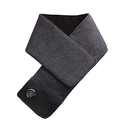 Bufanda calefactable, calentador de cuello USB Termostato de tres velocidades Envoltura de cuello Compresión caliente Bufanda calefactora lavable de calentamiento rápido Para esquiar Pesca,D,80*12cm