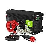 Green Cell Pro 500W/1000W 12V a 220V/230V Onda sinusoidal modificada Inversor de Corriente DC AC Power Inverter Transformador de Voltaje para Coche Camion con Puerto USB
