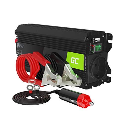 Green Cell Pro 500W 1000W 12V 220V 230V Convertisseur de Tension Voiture Solaire Modifiée Volts Sinus Power Inverter sinusoïdale DC AC, Onduleur Transformateur
