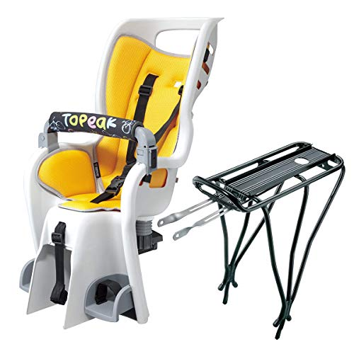 Topeak Babyseat II with Non Disc Rack , Yellow Padding, 15.4 x 32.5 x 19.8 Inch