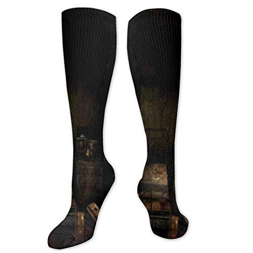 XCNGG Anime Silent Hill Calcetines Calcetines deportivos transpirables informales Calcetines de tubo novedosos Regalos de cosplay Calcetines altos ajustados Calcetines de tripulación Talla única para