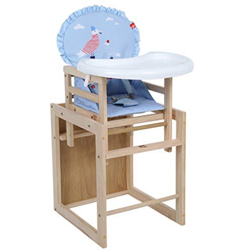 Sécurité en bois Chaise de bébé, Pliable Multifonction Chaise de salle à manger pour bébé Chaise haute ergonomique, Chaise de salle à manger portable pour enfants avec plateau de protection de l'env