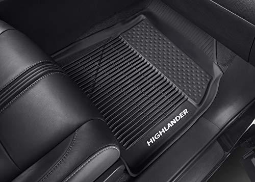 Genuine Toyota All-Weather Floor Liner Set PT908-48165-02. Black 3 Piece Set. 2016-2017 Highlander & Highlander Hybrid.